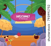 vector flat illustration of... | Shutterstock .eps vector #793991752