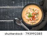 Stock photo thai soup called tom kha gai 793992385