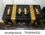 japanese style chest with gold.   Shutterstock . vector #793994332