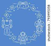 toys for children  robots ... | Shutterstock .eps vector #793995358