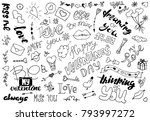 a set of simple drawings in... | Shutterstock .eps vector #793997272