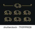 fast shipping delivery truck.... | Shutterstock .eps vector #793999828