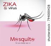 mosquito sucking blood on skin. ... | Shutterstock .eps vector #794000428