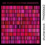 purple and pink gradients big... | Shutterstock .eps vector #794000662