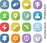 flat vector icon set   pointer... | Shutterstock .eps vector #794001325