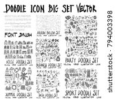 mega set of doodles vector.... | Shutterstock .eps vector #794003398