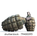 grenades isolated on white background - stock photo