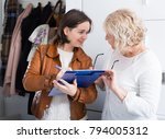 woman participates in a social... | Shutterstock . vector #794005312