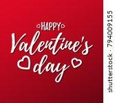 valentines day lettering.... | Shutterstock .eps vector #794009155