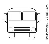 bus   vector icon without  fill | Shutterstock .eps vector #794010526