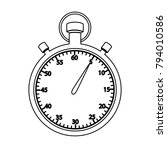 stopwatch   vector icon without ... | Shutterstock .eps vector #794010586