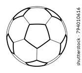 football ball   vector icon... | Shutterstock .eps vector #794010616