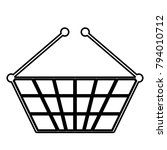 shopping basket   vector icon... | Shutterstock .eps vector #794010712