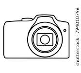 photo camera   vector icon... | Shutterstock .eps vector #794010796