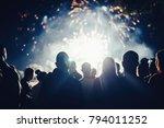 crowd watching fireworks | Shutterstock . vector #794011252