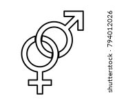 male and female sex symbol  ... | Shutterstock .eps vector #794012026