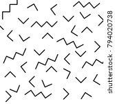 retro memphis geometric line... | Shutterstock .eps vector #794020738