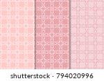 geometric seamless patterns.... | Shutterstock .eps vector #794020996