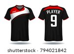 soccer jersey template.red and... | Shutterstock .eps vector #794021842
