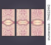 set of luxury flyer pages set... | Shutterstock .eps vector #794022442