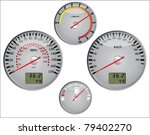 car speedometer in miles and... | Shutterstock .eps vector #79402270