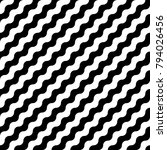seamless diagonal wavy lines.... | Shutterstock .eps vector #794026456
