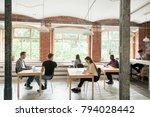 multiracial people work in... | Shutterstock . vector #794028442