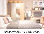 blur  interior of modern bed...   Shutterstock . vector #794029936