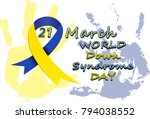 down syndrom day | Shutterstock .eps vector #794038552