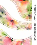 floral background. abstract... | Shutterstock . vector #794042818