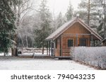 Small Wooden Camping House In...