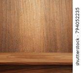 empty top wood shelves or table ... | Shutterstock . vector #794052235