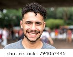 potrait of brazilian gay man... | Shutterstock . vector #794052445