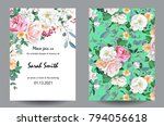 wedding invitation card with... | Shutterstock .eps vector #794056618