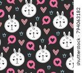 seamless scandinavian pattern.... | Shutterstock .eps vector #794063182