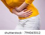 health care concept. bellyache  ... | Shutterstock . vector #794065012