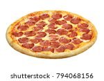 pizza pepperoni with mozzarella ... | Shutterstock . vector #794068156