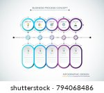 vector infographic 3d circle... | Shutterstock .eps vector #794068486