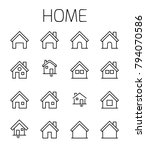 home related vector icon set.