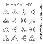 hierarchy related vector icon... | Shutterstock .eps vector #794070682