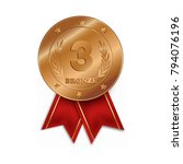 third place medal isolated on... | Shutterstock .eps vector #794076196