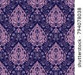 vector damask seamless pattern... | Shutterstock .eps vector #794078038