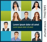 template with a group of... | Shutterstock .eps vector #79407895