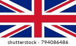 flag of the great britain ... | Shutterstock .eps vector #794086486