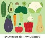 vegetables cartoon vector... | Shutterstock .eps vector #794088898