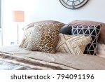 tribal pattern cushion setting...   Shutterstock . vector #794091196