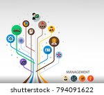 management flat icon concept.... | Shutterstock .eps vector #794091622