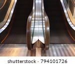 twin escalators without any...   Shutterstock . vector #794101726