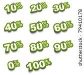 Complete Set Of Percent Green...