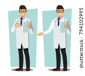 medical doctors character... | Shutterstock .eps vector #794102995